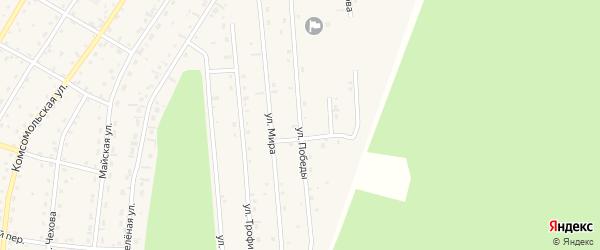 Улица Победы на карте села Турочак Алтая с номерами домов
