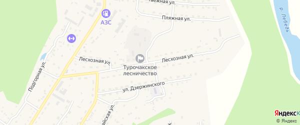Лесхозная улица на карте села Турочак Алтая с номерами домов