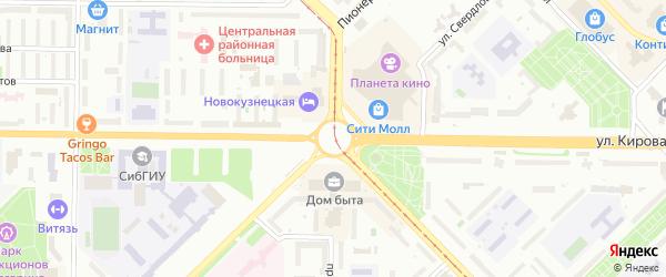 Кольцевой переулок на карте Новокузнецка с номерами домов