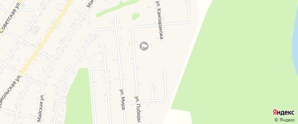 Улица Морозова на карте села Турочак Алтая с номерами домов