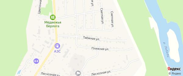 Таежная улица на карте села Турочак Алтая с номерами домов