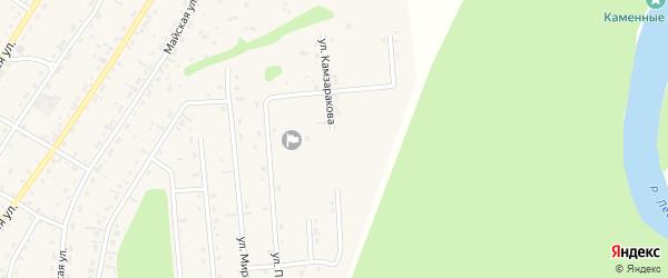 Улица Камзаракова на карте села Турочак Алтая с номерами домов