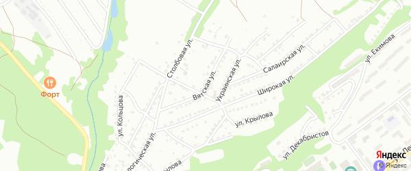 Вятская улица на карте Кузнецкого района с номерами домов