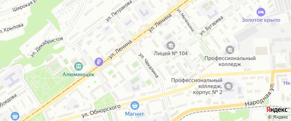 Улица Чекалина на карте Новокузнецка с номерами домов
