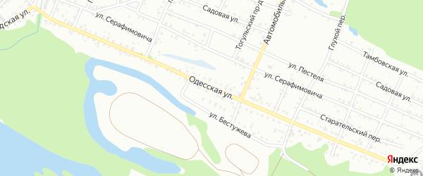 Одесская улица на карте Новокузнецка с номерами домов