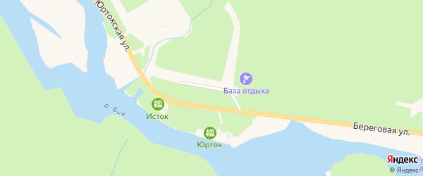 Еловый переулок на карте села Артыбаш Алтая с номерами домов