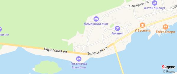 Улица Энергетиков на карте села Артыбаш Алтая с номерами домов