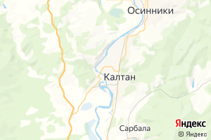 Карта г. Калтан Кемеровская область