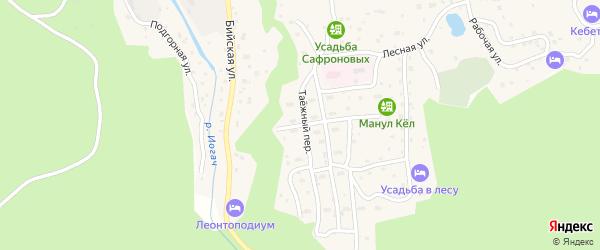 Таежная улица на карте села Иогач Алтая с номерами домов