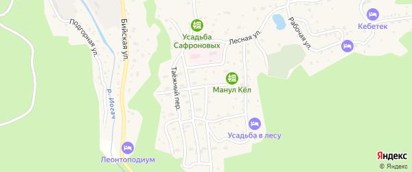 Больничная улица на карте села Иогач Алтая с номерами домов
