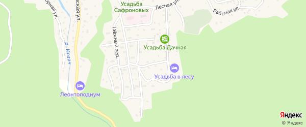 Дачная улица на карте села Иогач Алтая с номерами домов