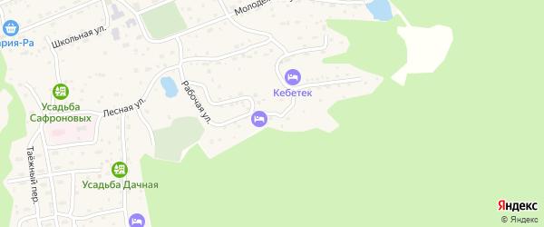 Рабочая 1-я улица на карте села Иогач Алтая с номерами домов