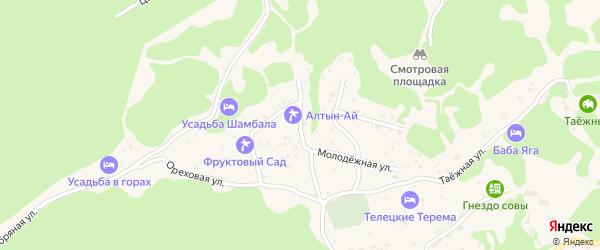 Веселый переулок на карте села Артыбаш Алтая с номерами домов