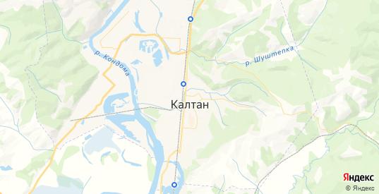 Карта Калтана с улицами и домами подробная. Показать со спутника номера домов онлайн
