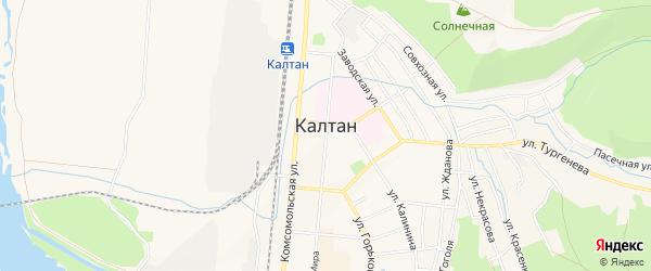 Территория СТ Энергетик на карте Калтана с номерами домов