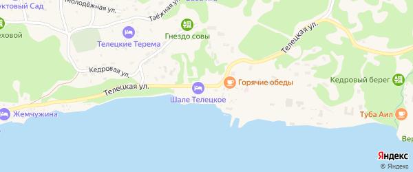 Телецкая улица на карте села Артыбаш Алтая с номерами домов