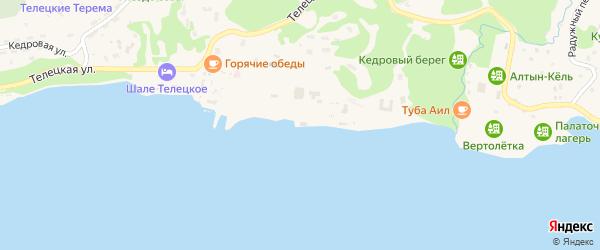 Территория т/б Золотое Озеро на карте села Артыбаш Алтая с номерами домов