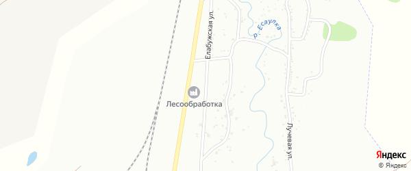 Елабужская улица на карте Заводской района с номерами домов