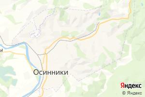 Карта г. Осинники Кемеровская область