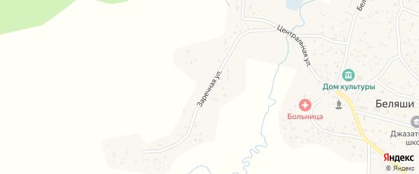 Заречная улица на карте села Беляши Алтая с номерами домов
