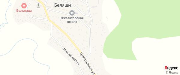 Наурызбая улица на карте села Беляши Алтая с номерами домов