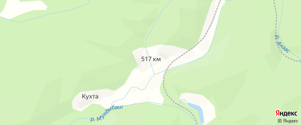 Карта разъезда 517 км в Кемеровской области с улицами и номерами домов