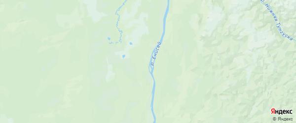 Карта Туруханского района Красноярского края с городами и населенными пунктами