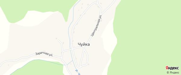 Центральная улица на карте села Чуйки Алтая с номерами домов