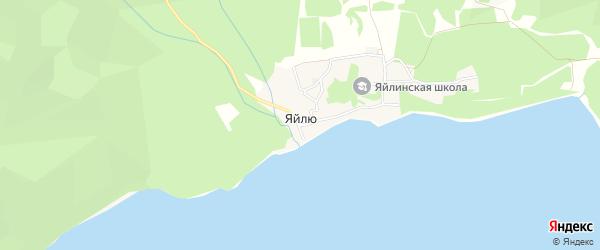 Карта села Яйлю в Алтае с улицами и номерами домов