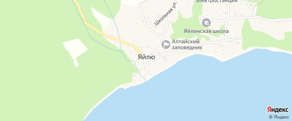 Улица Волчья Заимка на карте села Яйлю Алтая с номерами домов