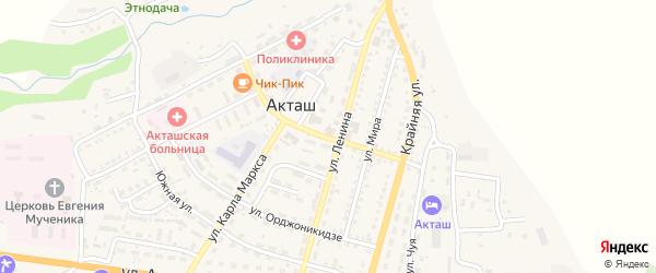 Улица С.Мохова на карте села Акташа Алтая с номерами домов