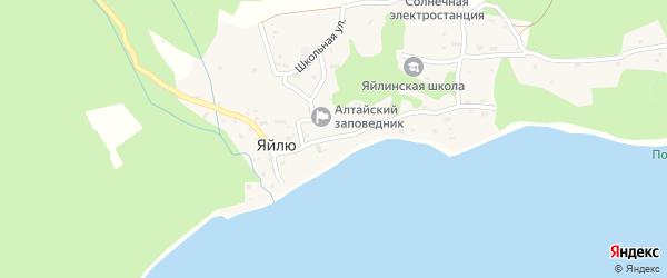 Центральная улица на карте села Яйлю Алтая с номерами домов