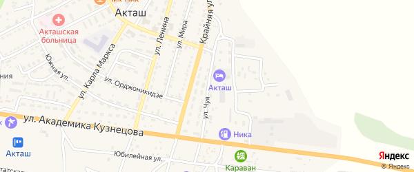 Улица Чуя на карте села Акташа с номерами домов