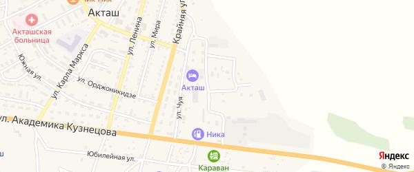 Трудовая улица на карте села Акташа Алтая с номерами домов