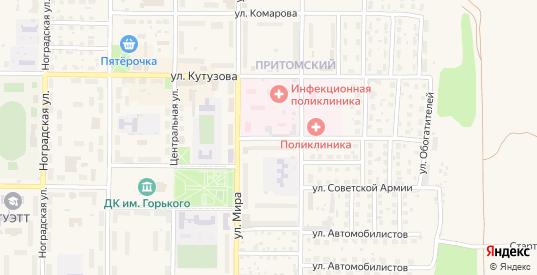Больничный переулок в Мыски с номерами домов на карте. Спутник и схема онлайн