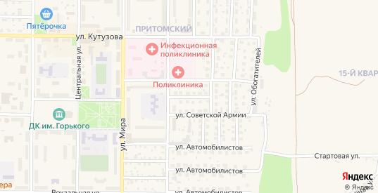 Стахановская улица в Мыски с номерами домов на карте. Спутник и схема онлайн