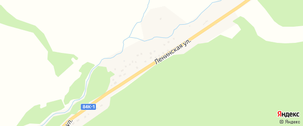 Ленинская улица на карте села Акташа Алтая с номерами домов