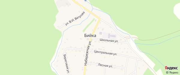 Заречная улица на карте села Бийки Алтая с номерами домов
