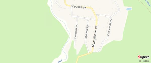 Клыкская улица на карте села Бийки Алтая с номерами домов
