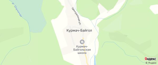Карта села Курмача-Байгла в Алтае с улицами и номерами домов