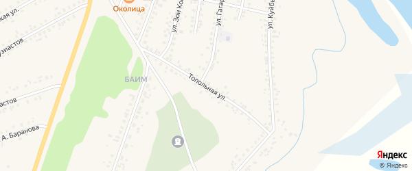 Топольная улица на карте Мариинска с номерами домов