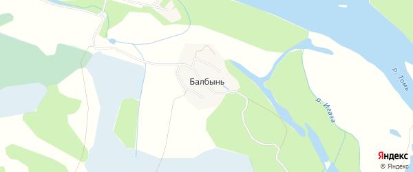 Карта поселка Балбыни города Мыски в Кемеровской области с улицами и номерами домов