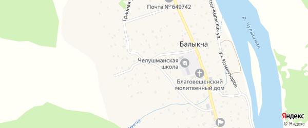 Богатырская улица на карте села Балыкча Алтая с номерами домов
