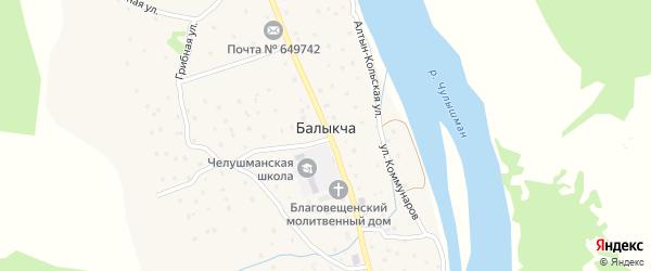 Ачилманский переулок на карте села Балыкча Алтая с номерами домов