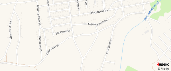 Планировочная улица на карте Мыски с номерами домов