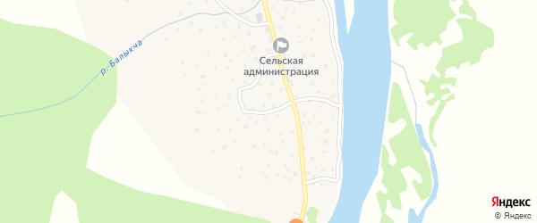 Водопадная улица на карте села Балыкча Алтая с номерами домов