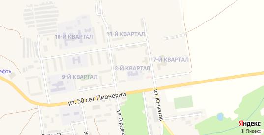 8-й квартал в Мыски с номерами домов на карте. Спутник и схема онлайн