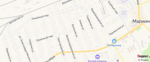 Большая улица на карте Мариинска с номерами домов