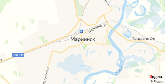 Карта Мариинска с улицами и домами подробная. Показать со спутника номера домов онлайн