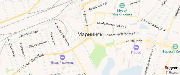Территория 471 км трассы Новосибирск-Иркутск на карте Мариинска с номерами домов